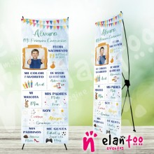 Banner comunión mi historia niño