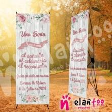 Banner rosa una boda se vive 3 veces