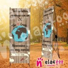 Banner madera toda aventura comienza con un si