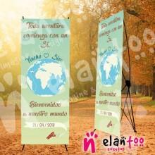Banner toda aventura comienza con un si... bienvenidos a nuestro mundo