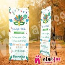 Banner la vida es un carnaval
