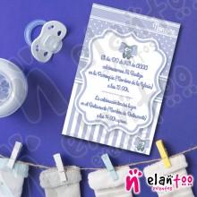Invitación Elefante Azul