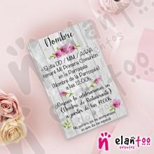 Invitación Flores Fucsia