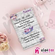 Invitación Flores Moradas