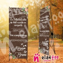 Banner fondo madera la felicidad solo es real cuando se comparte