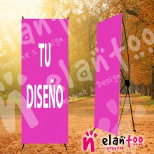 Cartel de bienvenida banner con tu diseño de boda
