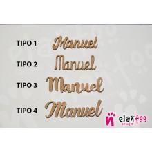 Marcasitios Nombres de Madera con Imán