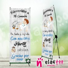 Cartel de comunion niño del real madrid