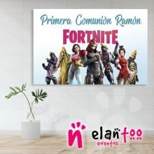 Fondo mesa dulce personajes de fortnite