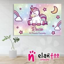 Fondo mesa dulce unicornio arcoiris