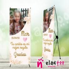 Cartel comunión de niña con foto