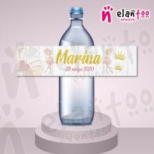 Etiqueta para Botella de Agua Bailarina