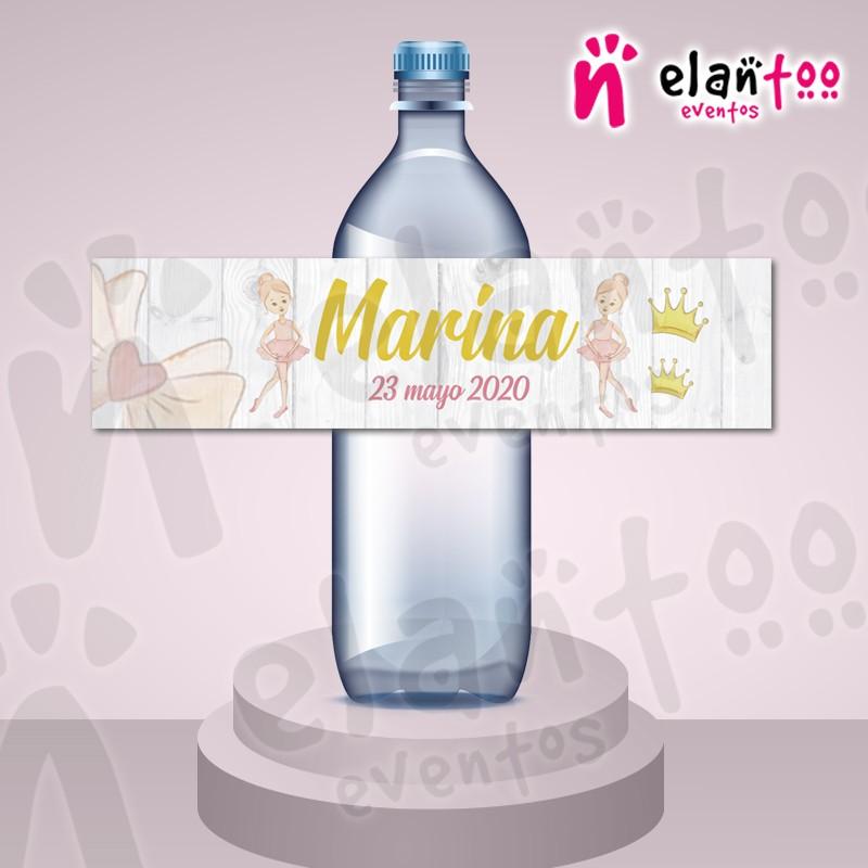 instante Soleado harto  Etiquetas personalizadas para botellas de agua para comunión de niña