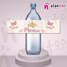 Etiqueta para Botella de Agua Corona