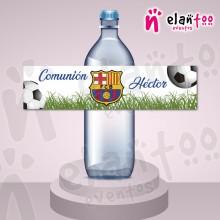 Etiqueta para Botella de Agua FC Barcelona