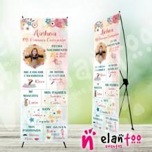 Banner comunión mi historia niña