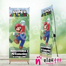 Cartel banner comunión Mario Bros