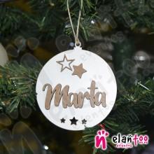 Bola de Navidad con Relieve Estrellas