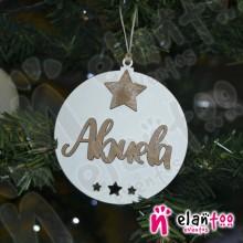 Bola de Navidad con Relieve Estrella Grande